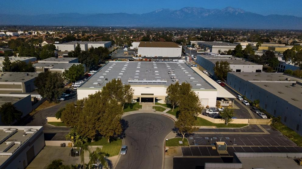 Drone photography for VR Tour Video of Chino industrial property