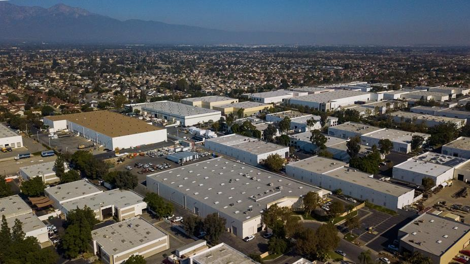 Drone photography for VR Tour Video of industrial property in Chino, California