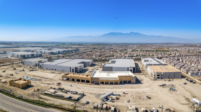 the Merge Eastvale aerial image