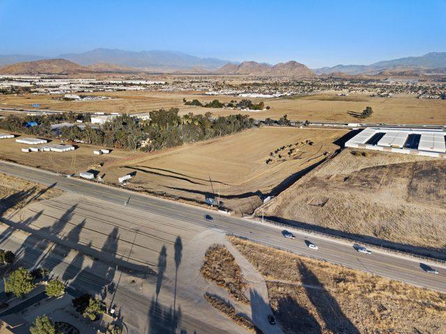 progress drone photography of the Harvill Logistics Center
