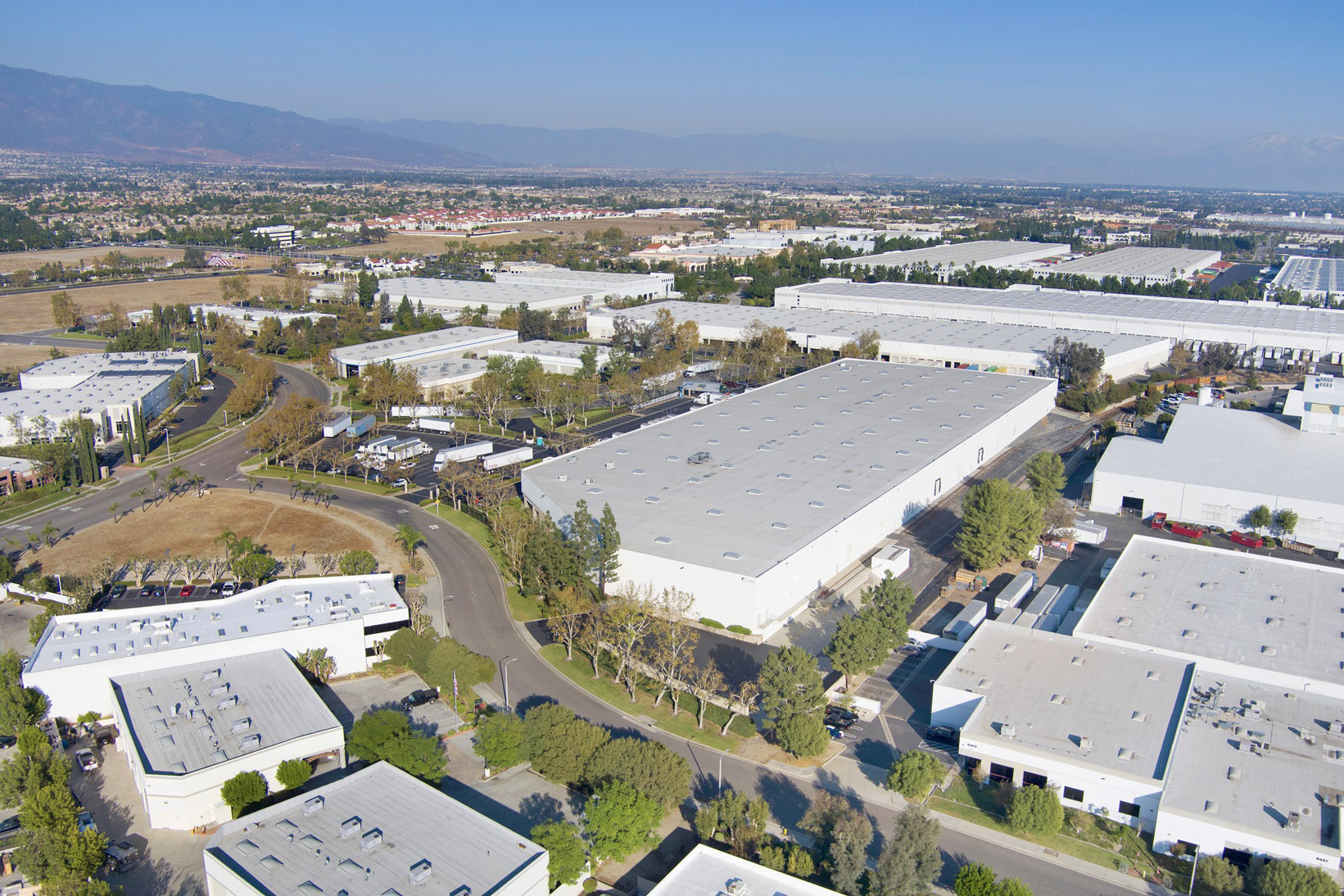 industrial real estate drone photography