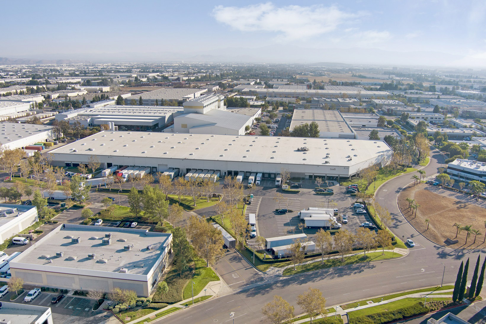 industrial real estate drone photography California's Inland Empire