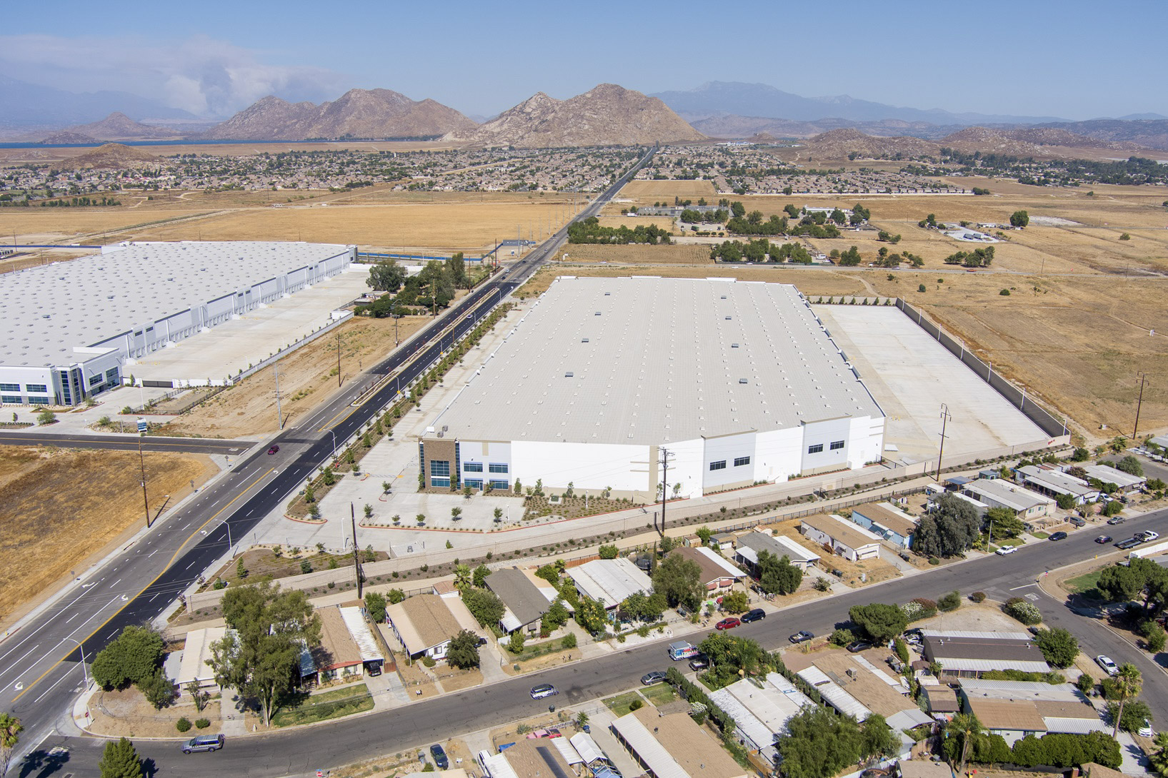 drone photography of industrial real estate listing